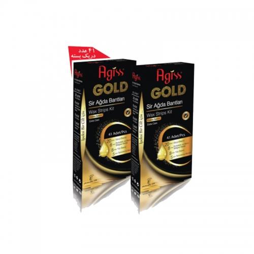بسته کامل نوارهای موبر طلایی 41 عددی
